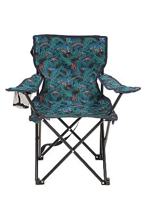 Mountain Warehouse Silla Plegable Mini con Estampado para niños - Sillas de Camping con reposabrazos y reposacabezas para niños - para Picnic, la ...