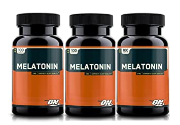 Optimum Nutrition Melatonin 3mg, 100 Tablets (3 packs)