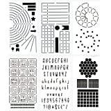 Ultimate Productivity Journal Stencil Set - Custom-Designed Supplies for Bullet Dotted Journal Planners, DIY Templates to Cre