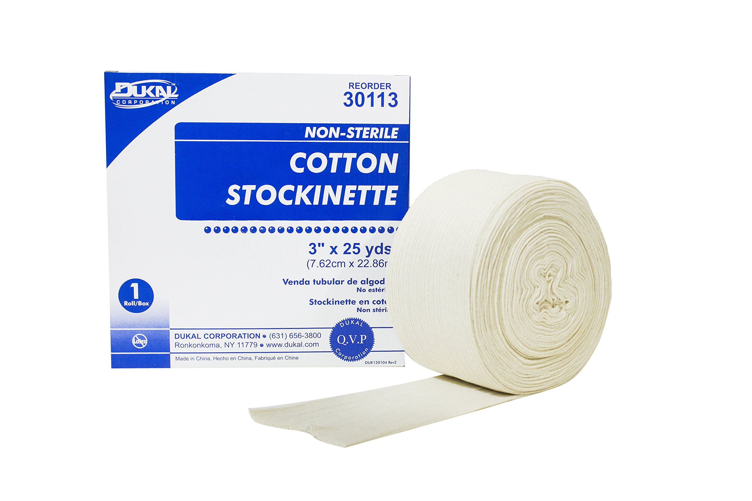 Dukal 30113 Cotton Stockinette, Non Sterile, 3'' x 25 yd. (Pack of 6) by Dukal (Image #1)