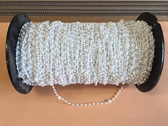 cg-sonnenschutz 30 Stück Clips mit Kette / Abstandskette / Verbindungskette für 89 mm Vertikaljalousie - Lamellen Vorhang Vor