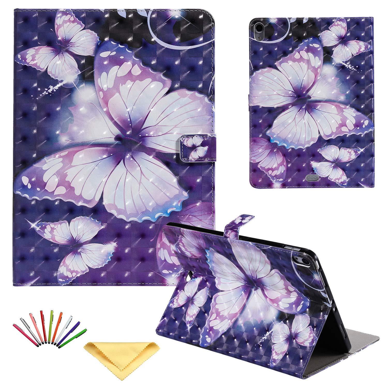 値引 Uliking Apple フォリオケース Apple iPad Pro 12.9インチ Purple 2018用 (第3世代) マグネット ウォレット スマート 合成皮革 カバー スタンド TPU 耐衝撃 ウォレット カードホルダーポケット付き [自動ウェイク/スリープ] パープル 02# Purple Butterfly B07NQ6P57W, ねん土の丸石:8b207233 --- senas.4x4.lt