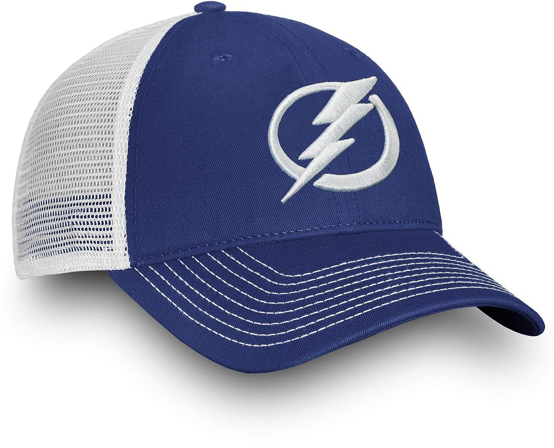 new style be0ea 55a98 Amazon.com   Football Fanatics NHL Men s Tampa Bay Lightning Primary Logo  Royal Snapback Adjustable Hat, One Size   Clothing