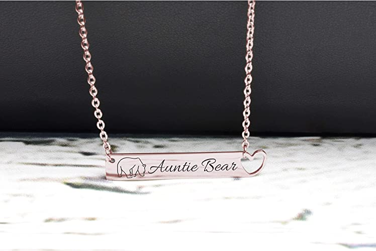Gold Pink Box Symmetrical Initial Disc Necklace S