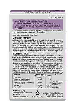 TRIPTOFANO TRI ANGELINI 60 COMPRIMIDOS: Amazon.es: Salud y cuidado personal
