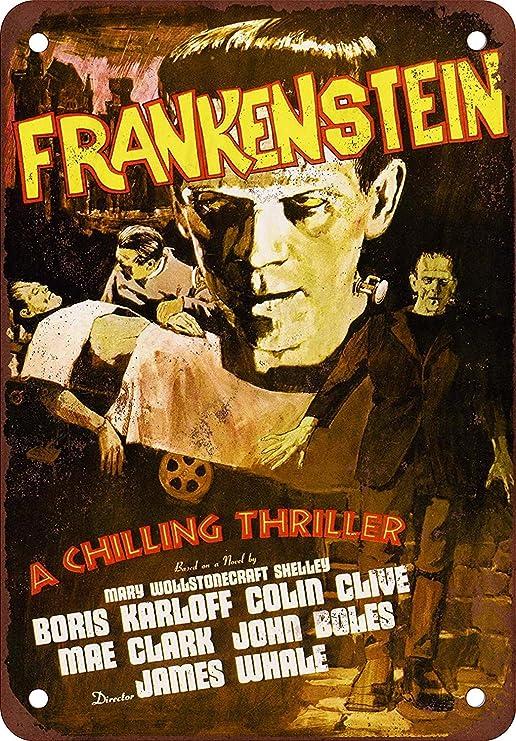 REVENGE OF FRANKENSTEIN FILM MOVIE METAL TIN SIGN POSTER WALL PLAQUE