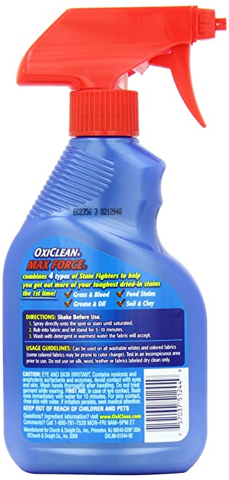Amazon Oxiclean Max Force Laundry Stain Remover Spray 12 Ounce