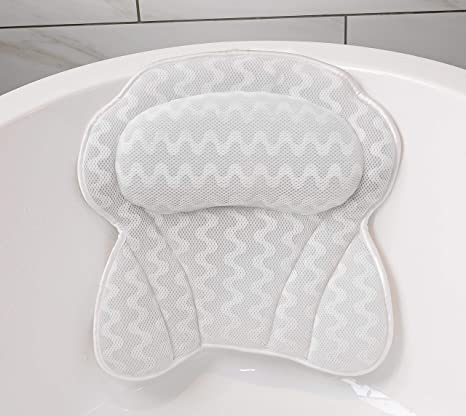 Bath Pillow By Soothing Company | Bathtub Cushion for Neck, Head, Shoulder and Back Support | Jacuzzi Hot Tub Headrest and Bath Tub Pillow Rest | Bath ...