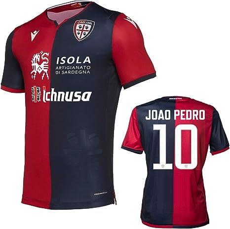 Soccer Jersey Cagliari Maglia Joao Pedro Autentica Gara Home 2019-20 Slim Fit