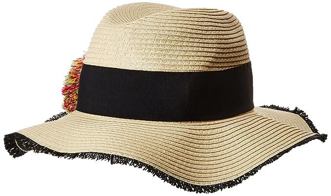 Betsey Johnson Women s Pom Girl Panama Hat 37eb00700cd8