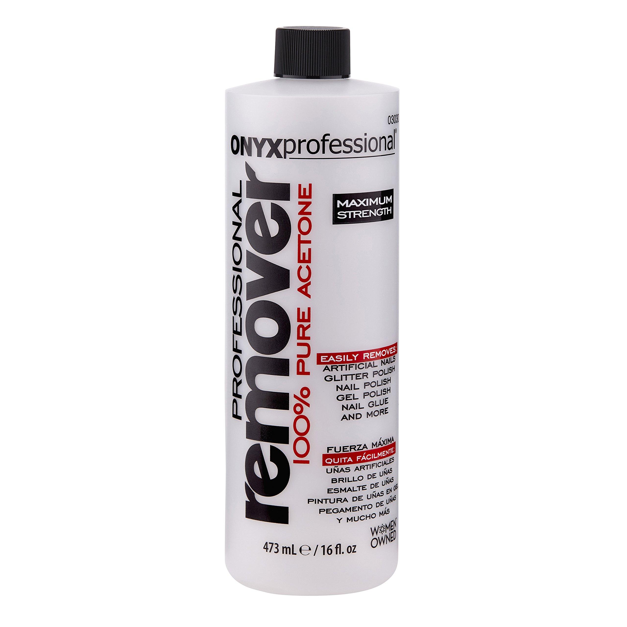 Acetone Nail Polish Remover 16oz - Removes All Nail Polishes
