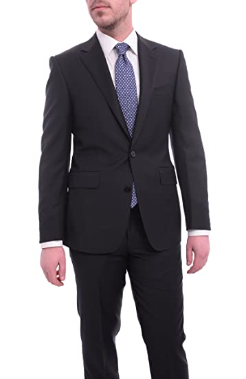quality design 248e1 0f190 Napoli Classic Fit Solid Navy Blue Two Button Half Canvassed ...