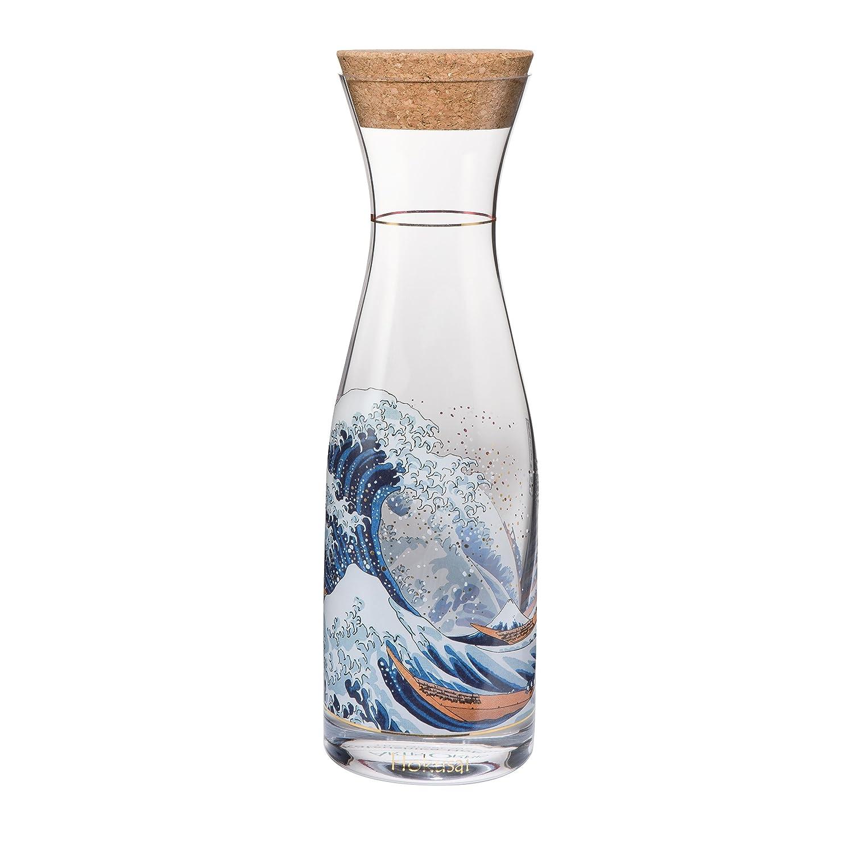 Goebel Die Welle, Hokusai, Karaffe, Glaskaraffe, Wasserkaraffe, Dekoration, Glas, 66847281