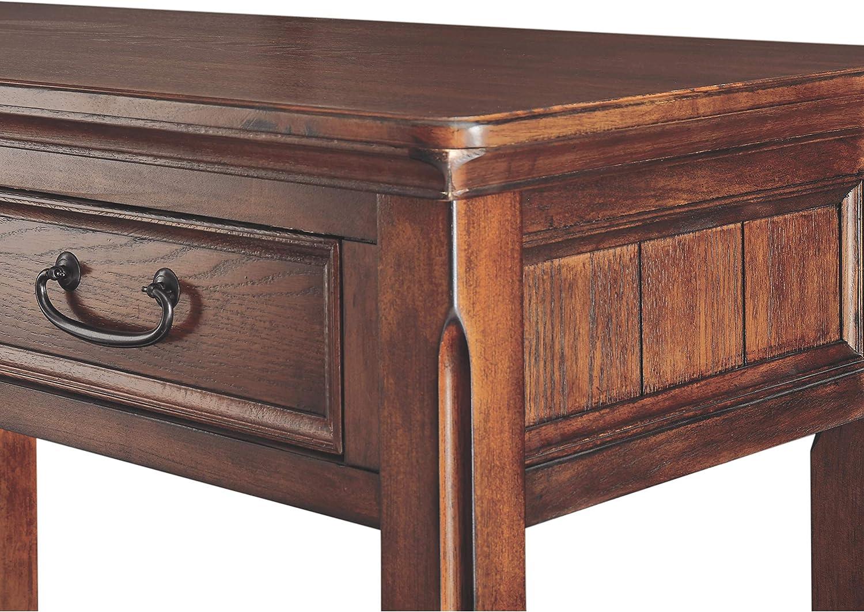 Signature Design by Ashley Rustic Dark Brown Woodboro End Table