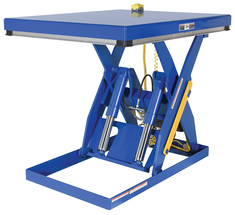 Capacity 48 x 40 Platform Vestil EHLT-4048-4-43 Electric Hydraulic Scissor Lift Table 4,000 lb 7 to 43 Height Range