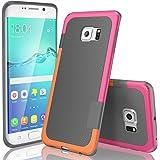 TILL Galaxy S6 Edge Case, (TM) Ultra Slim 3 Color Hybrid Impact Anti-Slip Shockproof Soft TPU Hard PC Bumper Extra Front…