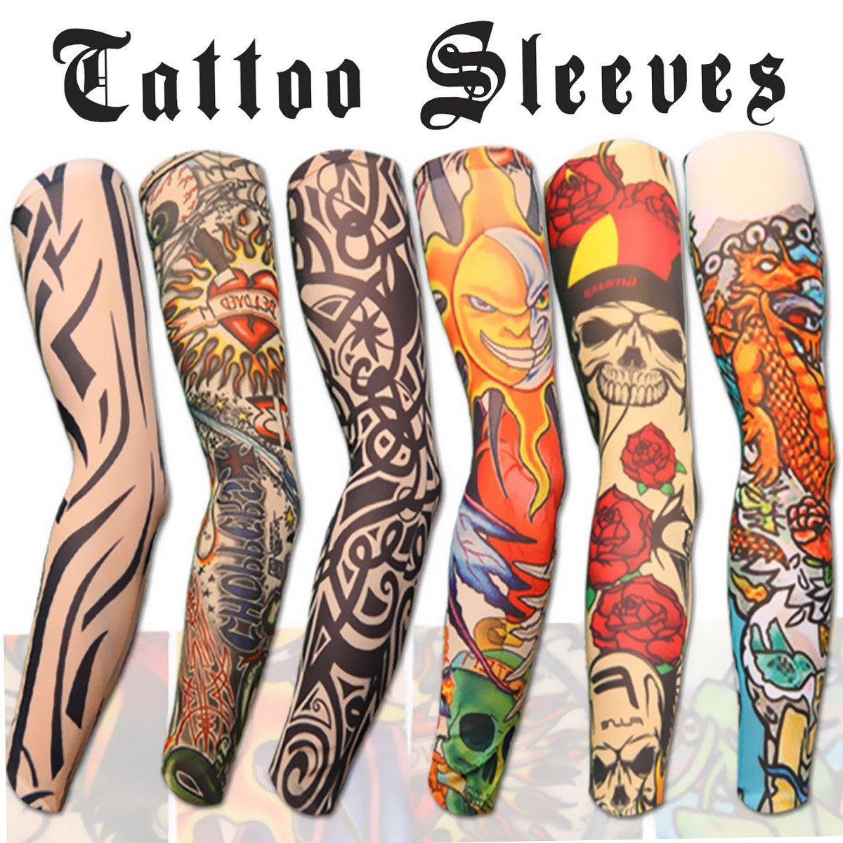10pc fake temporary tattoo sleeves body art for Temporary arm tattoos