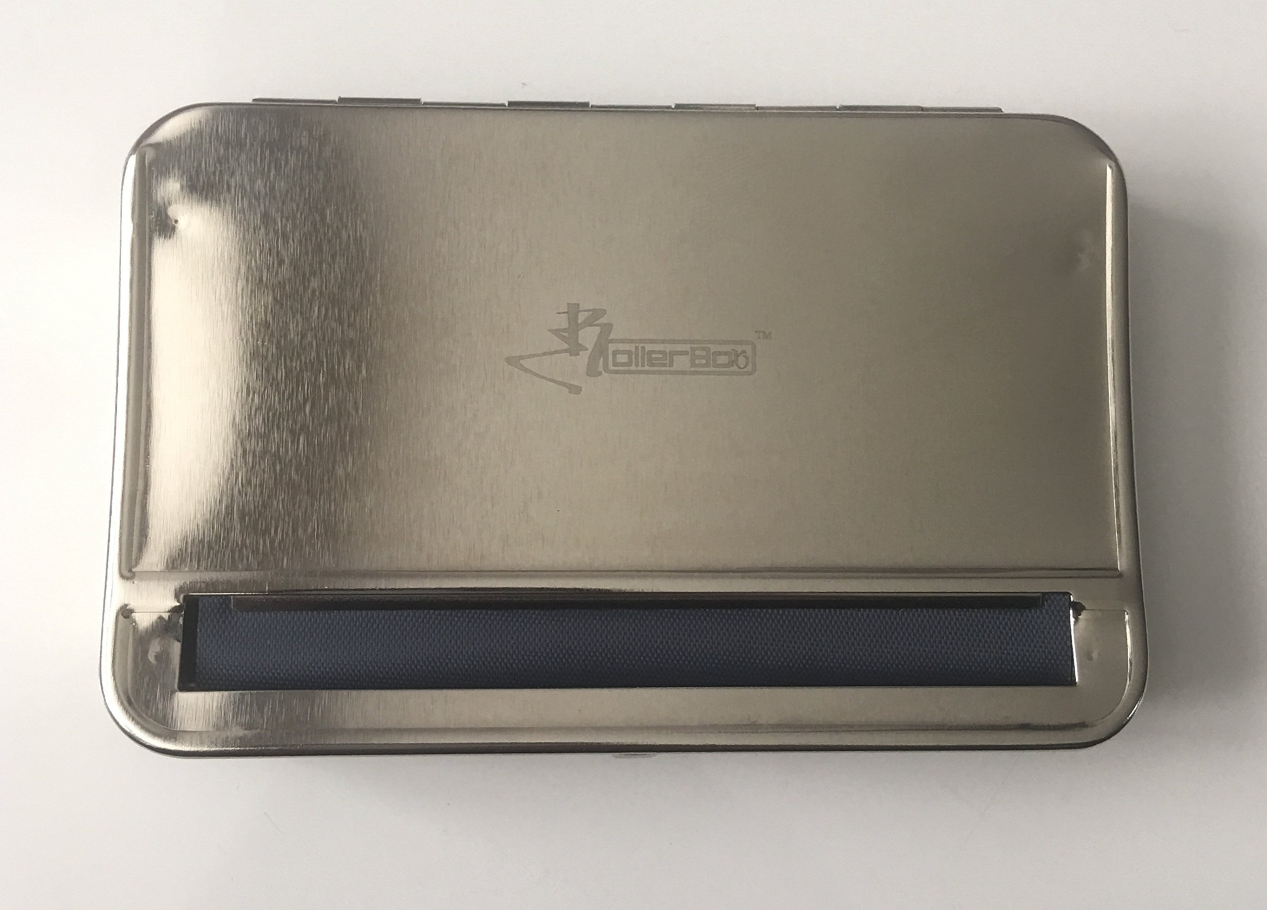 The RollerBox, Silver, Large, Adjustable, Automatic cigarette roller, Rolls and stores up to 110mm King Sized Cigarette