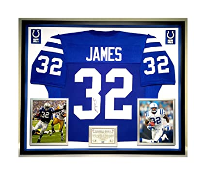 d788f3027 Image Unavailable. Image not available for. Color  Premium Framed Edgerrin  James Autographed Signed Indianapolis Colts Jersey - JSA COA