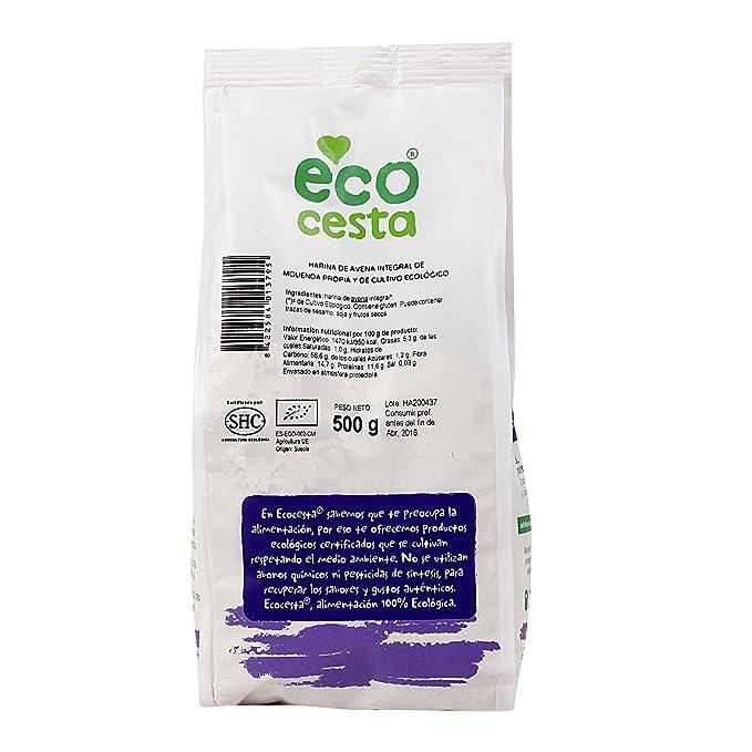 Harinas Ecocesta De Avena Integral Bio Bolsa 500 G: Amazon.es: Alimentación y bebidas