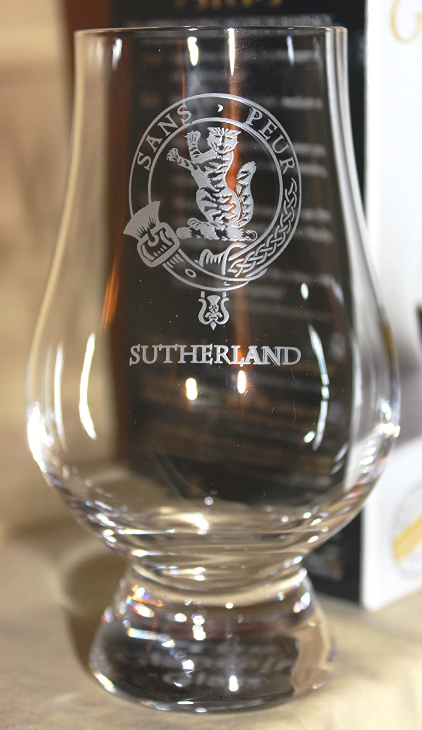 CLAN SUTHERLAND GLENCAIRN SINGLE MALT SCOTCH WHISKY TASTING GLASS