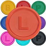 Jetons marqués avec la lettre B, P ou L - 14 couleurs disponibles - SchwabMarken