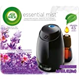 Air Wick Essential Mist, Essential Oil Diffuser, (Diffuser + 1 Refill), Lavender and Almond Blossom, Air Freshener, 2 Piece S