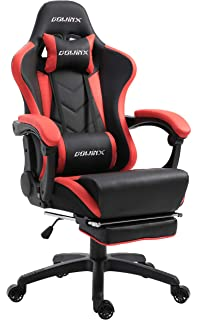 Dowinx Gaming Chair Ergonomic Office Recliner for Computer with Massage Lumbar Support, Racing Style Armchair