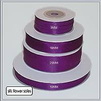 Rollo de púrpura doble cara cinta de raso elección de 3 mm, 10 mm,