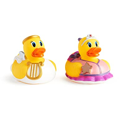 Munchkin White Hot Super Safety Bath Ducky, Princess and Angel, 2 Count