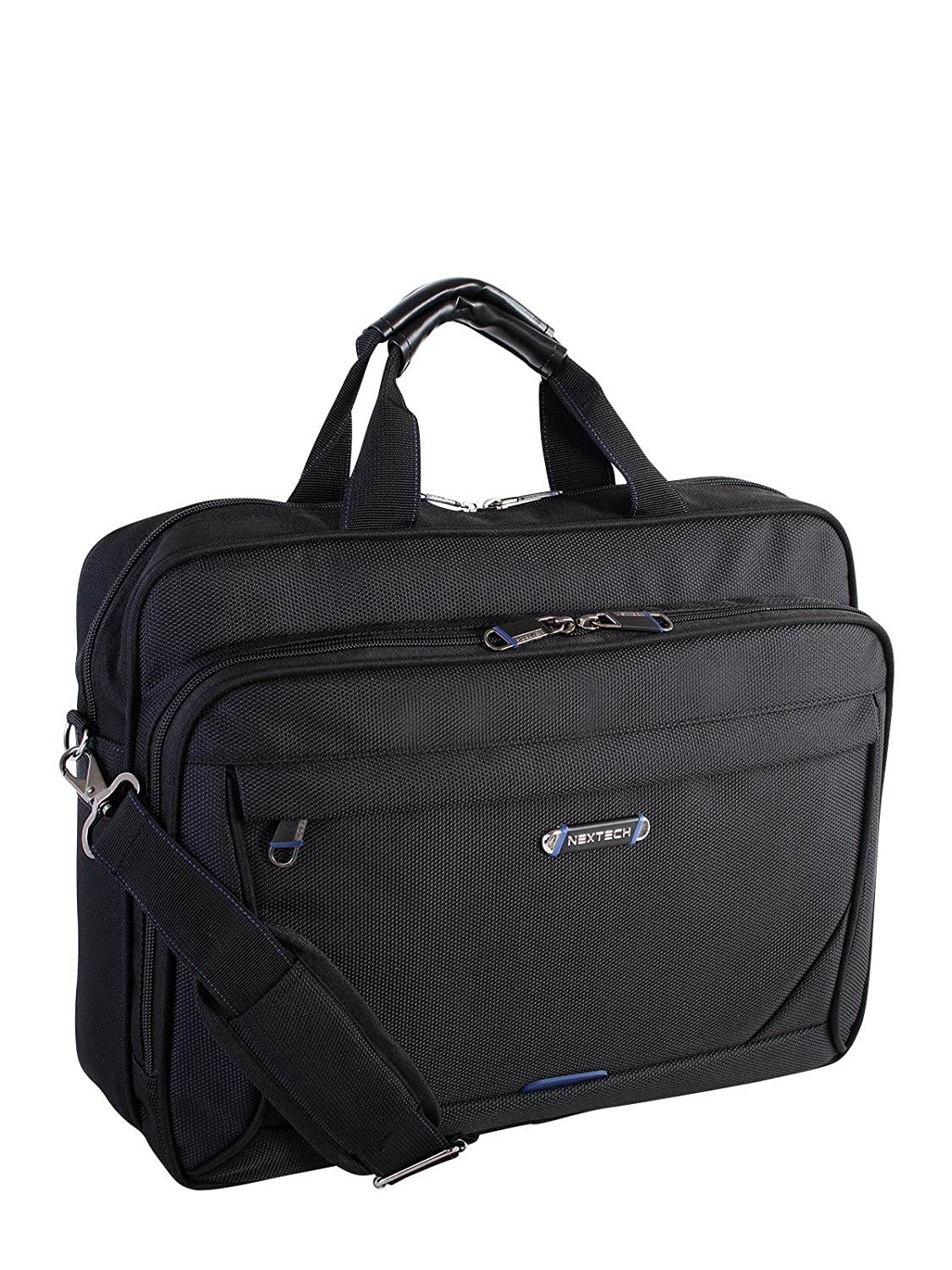 NEXTECH NXT1013009 Concord Deluxe Slim Brief Messenger Bag, Black, Under Seat TP-HOLIDAY GROUP LIMITED
