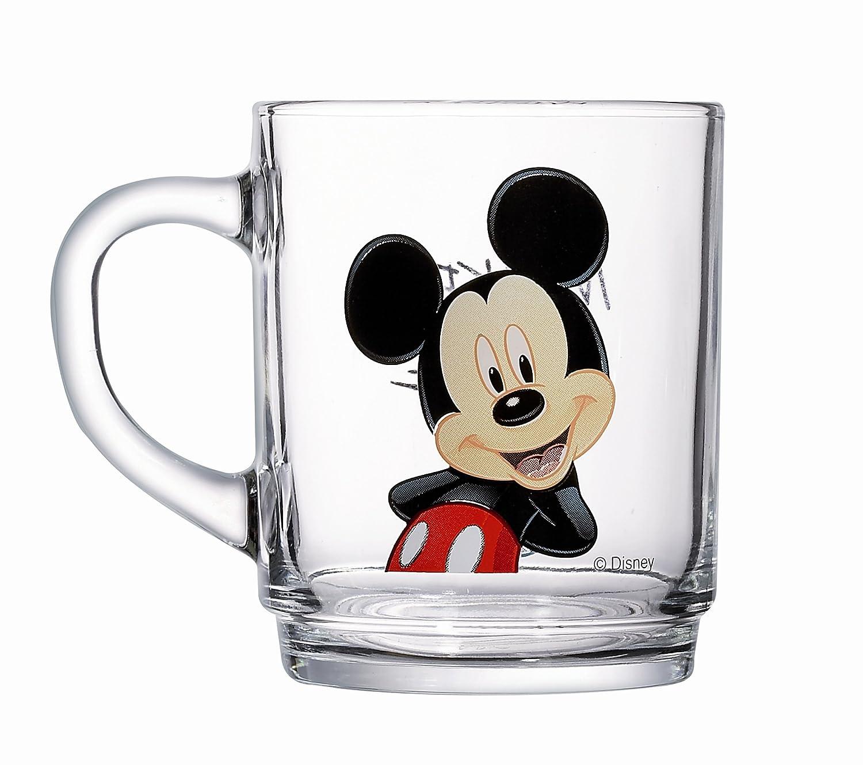 Luminarc 9299176 - Pack de 6 tazas de Disney Mickey (cristal, 25 cl): Amazon.es: Hogar
