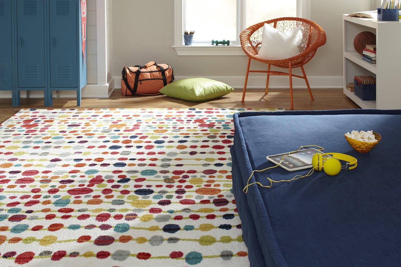 Mohawk Home Strata Delerus Geometric Polka Dot Printed Area Rug, 7'6x10', Multicolor
