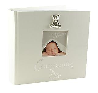 Álbum de fotos de bautizo, 15x 10cm, con figura de oso en 3D Widdop bingham CG280A