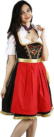 almandat rachten Mujer Traje típico de Tirolesa Midi Set Negro 50: Amazon.es: Ropa y accesorios