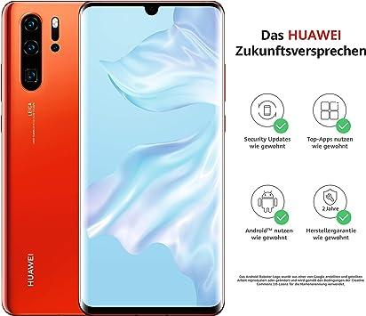 Huawei P30 Pro - Smartphone (Dual SIM, 128 GB), color ámbar ...
