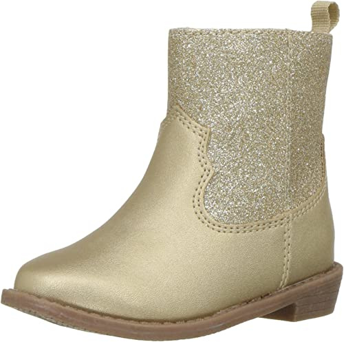 Carter/'s Toddler Girls Ankle Booties Gold //Pastel Pink Shoe Size 6 7 8 9 10 11 T