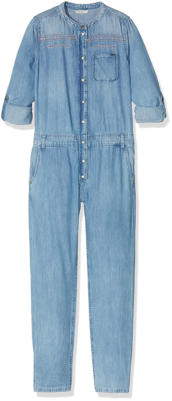 Pepe Jeans Mädchen Jumpsuit Beau Jr Blau (Denim) 8 Jahre PG230083