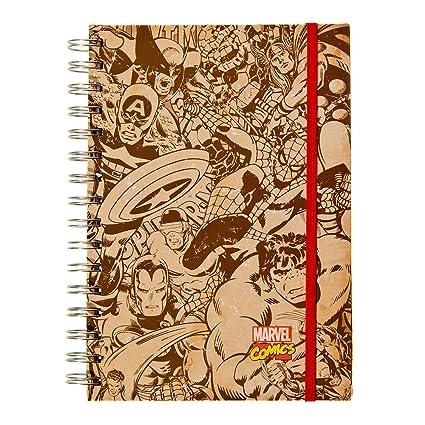 Marvel Comics imágenes en blanco y negro A5 cuaderno: Amazon ...