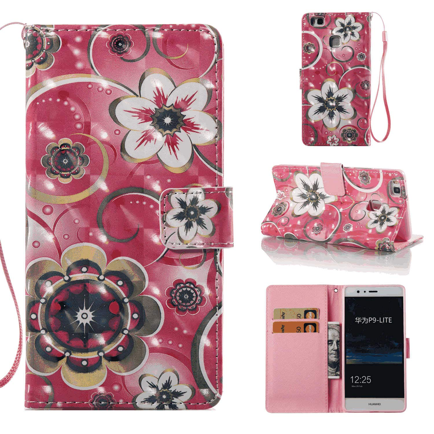 Cover for iPhone 7 Leather Kickstand Card Holders Extra-Shockproof Business Mobile Phone case with Free Waterproof-Bag iPhone 7 Flip Case
