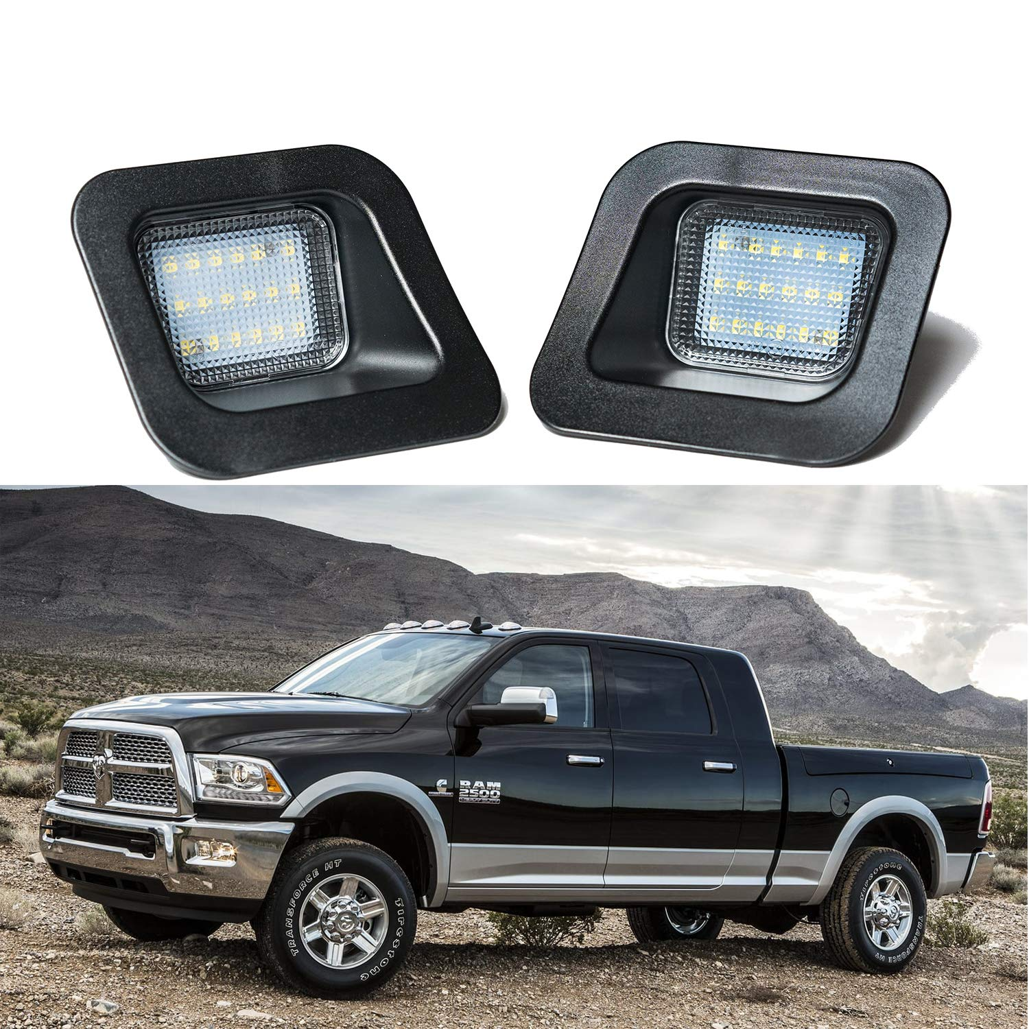 LED License Plate Light Lamp for Dodge Ram 1500 2500 3500 2003-2018 Pick Up Truck