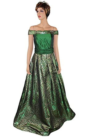 098ebac6fd91b Women Evening Dress - Liz Silk Floral Off the Shoulder Gown, Special ...