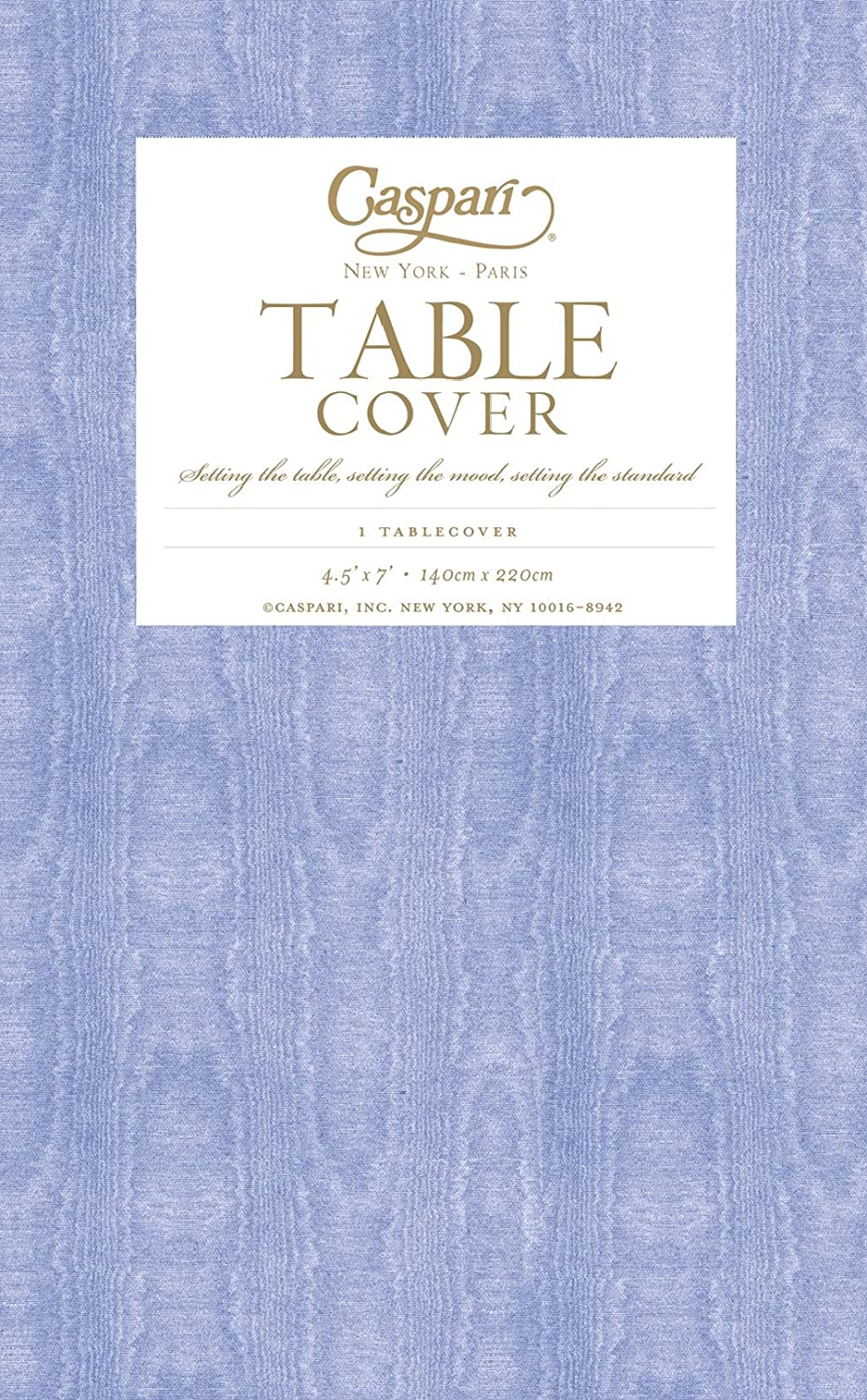 Amazon.com: Caspari Moire Printed Paper Table Cover, 54 By 84 Inch,  Lavender Blue: Kitchen U0026 Dining