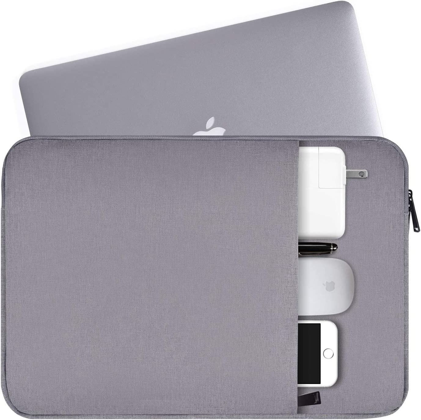 "11-12 Inch Waterproof Laptop Sleeve Case Compatible Acer Chromebook R 11,HP Chromebook 11,ASUS Chromebook 11.6,Samsung Chromebook 3,11.6"" Asus Toshiba HP Samsung Acer Chromebook Laptop Tablet Bag,Grey"