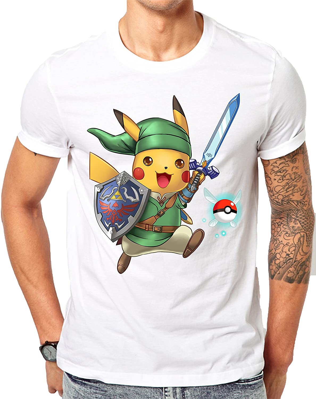 MerchDistributor Merch Distributeur Linkachu, Héros du Temps avec Pokeball Navi–Pokémon/Legend Of Zelda Parodie