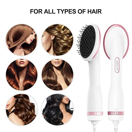 Lescolton One Step Secadora y Styler Hot Air Paddle Brush ...