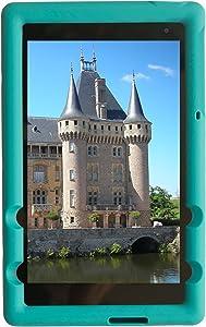 Bobj Rugged Case for Dell Venue 8 Pro Model 5855 – BobjGear Custom Fit - Patented Venting - Sound Amplification - BobjBounces Kid Friendly (Terrific Turquoise)