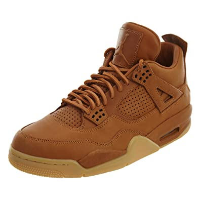 21af01ece1cdf4 Nike Mens Air Jordan 4 Retro Premium Ginger Gum Yellow Leather Size 9