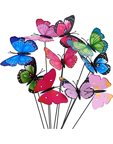 COLORFUL WALL FLOWER SCULPTURE Butterfly Dragonfly Ladybug Bee Fence Gate Art
