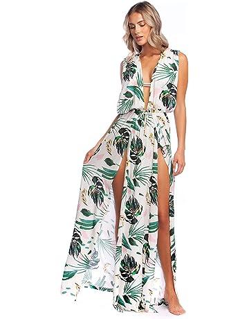22339729304 BCBGMAXAZRIA Women s Overlap Plunge Maxi Crossback Dress Cover-up